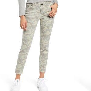 Camo Print Ankle Skinny Jeans by 1822 DENIM